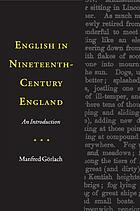 English in nineteenth-century England : an introduction