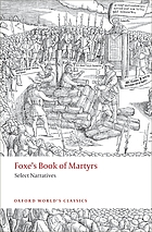 Foxe's Book of martyrs select narratives