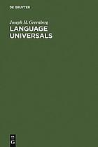 Language universals, with special reference to feature hierarchies