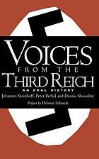 Voices from the Third Reich : an oral history