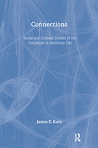 Connections : social and cultural studies of the telephone in American life