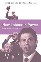 New labour in power precedents and prospects
