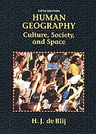 Human geography : culture, society, and space