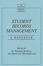 Student records management a handbook