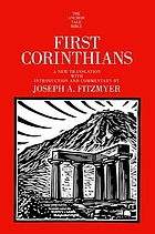 First Corinthians a new translation with introduction and commentary