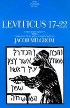 Leviticus 17-22 : a new translation with introduction and commentary