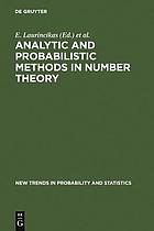 Analytic and probabilistic methods in number theory : proceedings of the second international conference in honour of J. Kubilius, Palanga, Lithuania, 23-27 September 1996