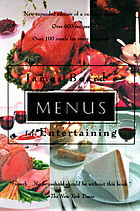 James Beard's menus for entertaining