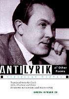 Antilyrik & other poems