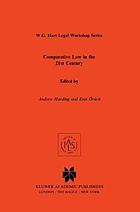 Comparative law in the 21st century