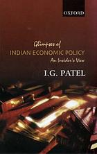 Glimpses of Indian economic policy : an insider's view