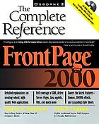FrontPage 2000 : the complete reference