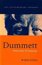 Dummett : philosophy of language