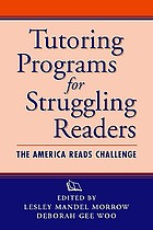 Tutoring programs for struggling readers : the America Reads Challenge