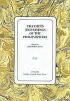 The dicts and sayings of the philosophers
