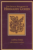 The critical philosophy of Hermann Cohen = La filosofia critica di Hermann Cohen