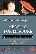 Measure for measure : texts and contexts