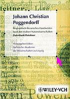 Biographisch-literarisches Handwörterbuch der exakten Naturwissenschaften Datenbank