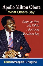 Apollo Milton Obote : what others say