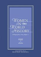 Women in world history : a biographical encyclopedia Women in world history : a biographical encyclopedia. Vol. 5, Ead-Fur