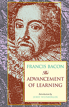 The advancement of learning : book 1