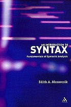 An introduction to syntax : fundamentals of syntactic analysis