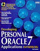Developing Personal Oracle7 applications