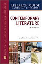 Contemporary literature, 1970 to present