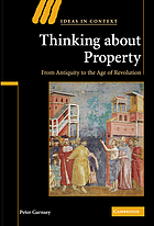 Thinking about property : from antiquity to the age of revolution
