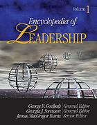 Encyclopedia of leadershipEncyclopedia of leadershipEncyclopedia of leadershipEncyclopedia of leadership