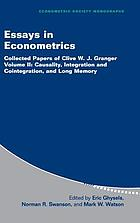 Essays in econometrics collected papers of Clive W.J. Granger