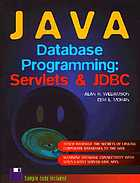 Java database programming : servlets & JDBC