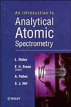 An introduction to analytical atomic spectroscopy