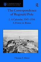 The correspondence of Reginald Pole