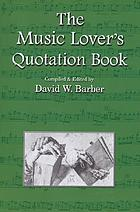 The music lover's quotation book