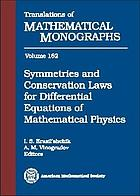 Symmetries and conservation laws for differential equations of mathematical physics