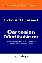 Cartesian meditations: an introduction to phenomenology