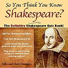 The definitive Shakespeare quiz book