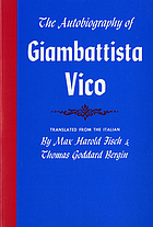 The autobiography of Giambattista Vico