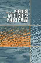 Review procedures for water resources project planning