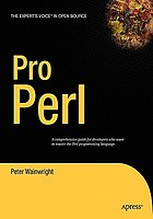 Pro PerlPro Perl : from professional to expert
