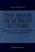 The shape of Korea's future South Korean attitudes toward unification and long-term security issues