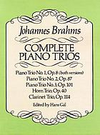 Complete piano trios : from the Breitkopf & Härtel complete works edition