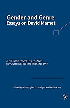 Gender and genre : essays on David Mamet