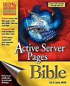 Active server pages bible