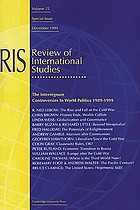 The interregnum : controversies in world politics 1989-1999