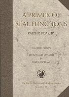 A primer of real functions