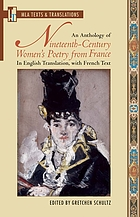 An anthology of nineteenth-century women's poetry from France : in English translation, with French text