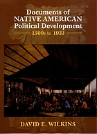 Documents of Native American political development : 1500s to 1933
