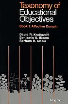 Taxonomy of educational objectives: the classification of educational goals. Handbook 2: Affective domain